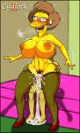 bart_simpson cum cydlock edna_krabappel erect_nipples huge_breasts orgasm_face reverse_cowgirl_position stockings the_simpsons