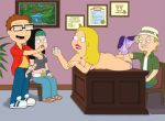 american_dad desk feel francine_smith funny gif guido_l hayley_smith incest jeff_fischer kick spit steve_smith
