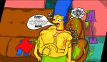 bart_simpson erection huge_breasts huge_nipples incest looking_down marge_simpson mother_&_son paizuri the_simpsons