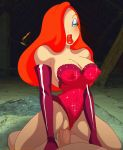 breasts cowgirl_position erect_nipples erection gloves jessica_rabbit penetration shaved_pussy thighs who_framed_roger_rabbit