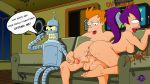 anus ass bender_bending_rodriguez breasts cum_inside dark_matter erect_nipples erection futurama nude orgasm_face philip_j._fry shaved_pussy thighs turanga_leela