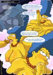 bart_simpson dreaming fellatio incest kogeikun_(artist) marge_simpson milf mother_and_son the_simpsons