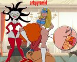 anilingus ass bondage breats femme_fatale legs_up mask powerpuff_girls pussylicking pyramid_(artist) sara_bellum sedusa semen_on_breasts slave yuri