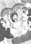 arms_up greyscale kusuguri_oujo nude tickling uncensored