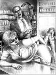 bare_ass big_ass black_and_white spank spanked spanking