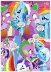 equestriauntamed palcomix rainbow_dash's_game_of_extreme_pda rainbow_dash_(mlp) rarity_(mlp) speech_bubble spike_(mlp) text twilight_sparkle_(mlp)