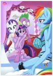 equestriauntamed palcomix rainbow_dash's_game_of_extreme_pda rainbow_dash_(mlp) rarity_(mlp) spike_(mlp) text twilight_sparkle_(mlp)
