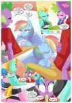 equestriauntamed fellatio paizuri palcomix public rainbow_dash rainbow_dash's_game_of_extreme_pda spike_(character)