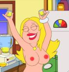 american_dad breasts closed_eyes francine_smith nipples topless