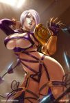 1girl 1girl big_breasts big_breasts breasts cleavage female_only isabella_valentine koshio looking_at_viewer soul_calibur under_boob