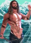 aquaman arthur_curry beard dc_comics half-dressed half_naked half_nude justice_league long_hair male muscle muscles penis presenting_penis showing_penis tattoo teasing water yaoi