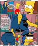 age_difference bart_simpson big_breasts breasts brompolos comic fantasy giant_breasts huge_breasts incest incest_comics marge_simpson milf mother_&_son pervert sexensteins size_difference taboo the_simpsons