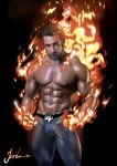 fantastic_four human human_torch johnny_storm male marvel marvel_comics muscle muscles