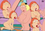 all_fours breasts chris_griffin cum_in_mouth cum_on_face darkmatter_(artist) family_guy fellatio huge_penis incest lois_griffin mother_&_son nipples nude tongue_out