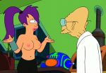 breasts erect_nipples futurama prof._hubert_j._farnsworth topless turanga_leela