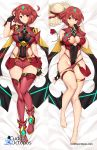 armor big_breasts breasts cleavage finger_to_mouth fingerless_gloves forehead_jewel gloves hand_in_hair hat hotpants legs pyra red_eyes red_hair short_hair thigh_high_boots thighs undressing xenoblade xenoblade_chronicles_2