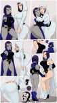 2girls arella_roth ass big_ass big_breasts breasts dat_ass daughter dc dcau embarrassing female milf mother_and_daughter raven_(dc) shadman tease teen_titans