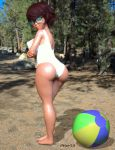 3d ass breasts glasses scooby-doo swimsuit thighs velma_dinkley