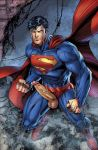 clark_kent dc_comics erect_penis erection justice_league kal-el male muscle muscles penis showing_penis superman yaoi