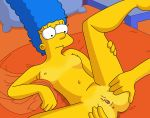 anus ass breasts gaping_pussy marge_simpson nipples nude shaved_pussy spreading the_simpsons thighs