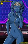 1girl alien blue_skin breasts chain collar female female_alien looking_at_viewer nude pussy star_wars stardragon77 stardragon77_(artist) twi'lek vette