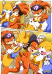 """happai_birthday miles_""""tails""""_prower mobius_unleashed palcomix shade_the_echidna"""