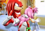 amy_rose ass bbmbbf hetero knuckles_the_echidna mobius_unleashed palcomix pussy sega sideboob spanking