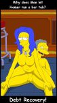 breasts erect_penis legs_apart marge_simpson moe_szyslak nipples nude reverse_cowgirl_position the_simpsons vaginal_sex