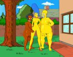 apu_nahasapeemapetilon breasts erect_penis high_heels homer_simpson marge_simpson nipples nude shaved_pussy the_simpsons