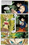 3girls caulifla comic dragon_ball dragon_ball_super dragon_ball_z kale son_goku