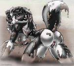 alicia_rankin_(artist) anus artist_name ass female fur furry mud sandy_the_collie solo tail vagina
