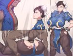 1boy 1girl balrog bbc breasts capcom censored chun-li creampie cum dark-skinned_male ejaculation huge_breasts interracial large_penis mating_press metalowl penis street_fighter testicles torn_clothes