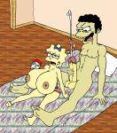 cumshot drunk huge_breasts huge_penis imminent_rape maggie_simpson moe_szyslak sbb the_simpsons