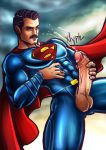 1_boy 1_human 1_male 1boy 1human 1male 1man clark_kent cum cumming cumming_penis cumshot dc_comics ejaculation erect_penis erection half-dressed half_naked half_nude handjob holding_penis human justice_league kal-el male masturbation offering presenting_penis showing_penis solo_male superman