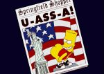 1_girl 1boy american_flag ass_up bart_simpson big_ass bottomless femboy mooning newspaper sissy straight the_simpsons