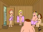 breasts chris_griffin family_guy lois_griffin meg_griffin nude pussy towel