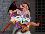 3_girls anal anal_penetration ass breasts crossover diana diana_the_acrobat dungeons_and_dragons no_panties partially_clothed princess_eilonwy pussy questionable_consent sex sheila sheila_the_thief spread_legs tentacle_sex tentacles the_black_cauldron venger