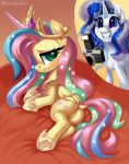 2_girls ass cosplay cutie_mark female_pegasus female_unicorn fluttershy_(mlp) friendship_is_magic horn multiple_girls my_little_pony pegasus pony pussy rarity_(mlp) tail unicorn wings