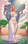 nipples religion see-through_clothes virgin_mary wet