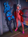 2_girls 2girls aayla_secura ahsoka_tano alien breasts condom crotchless_bodysuit crotchless_panties female_alien female_only fishnet_bodysuit fishnet_stockings high_heels holding_condom mostly_nude offworldtrooper_(artist) pussy revealing_clothes standing star_wars star_wars:_the_clone_wars stockings togruta twi'lek