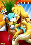 """blush justin_beaver miles_""""tails""""_prower mobius_unleashed palcomix riding zooey_the_fox"""
