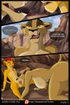 breasts comic cougar disney el-loko fellatio furry kion kissing large_ass large_breasts nude oral pussy saliva_string the_lion_guard the_lion_king zira