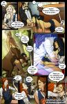 breasts centaur cho_chang comic fellatio female_human filius_flitwick firenze fuckit_(artist) ghost ginny_weasley harry_potter hermione_granger horsecock interspecies luna_lovegood male/female multiple_girls oral sex vaginal vaginal_penetration