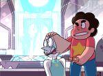 blush fellatio kneel pearl saliva scared steven_quartz_universe steven_universe sucking_penis