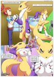 1girl comic digihentai digimon how_renamon_became_a_sex_idol_(digimon) nipples palcomix renamon rika_nonaka