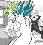 1girl 2boys caught cheating_husband dragon_ball_super fusion girlfriend kefla reanimatedgirl87 sex son_gohan son_goku vasarasengoku