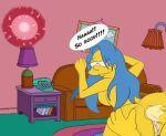 ass big_ass blue_hair cum cum_in_orifice impregnation marge_simpson ovum sperm_cell text the_simpsons yellow_skin
