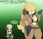 1girl anthro big_breasts bra breasts canine clothed clothing cosplay cosplay crossdressing dog eva_(metal_gear) furry girly halloween holidays konami male mammal metal_gear nikki_(pkfirefawx) niko_(pkfirefawx) pkfirefawx quiet_(metal_gear) underwear video_games