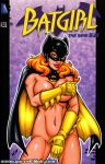 barbara_gordon batgirl batman_(series) big_breasts cape comic_cover covering dc_comics garrett_blair gloves mask mostly_nude red_hair toned