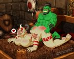 bed interracial monawolt ogre orc sex world_of_warcraft